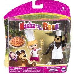 Set de Figuras Masha y El Oso Duo Pack Spin Master Chef