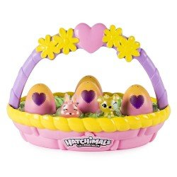 HATCHIMALS EGG CANASTA 6 COLECCIONABLES
