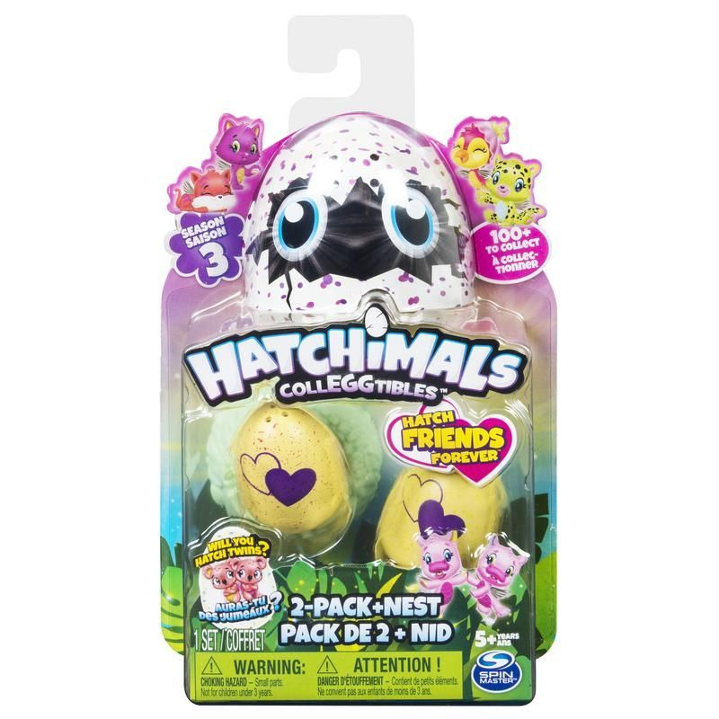 HATCHIMALS EGG COLECCIONABLES 2 FIGURAS   NIDO T3