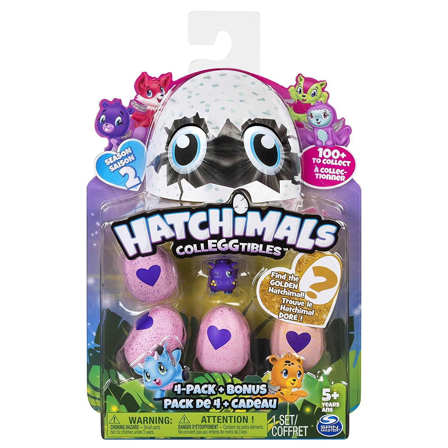 HATCHIMALS EGG  COLECCIONABLES 5 FIGURAS T2