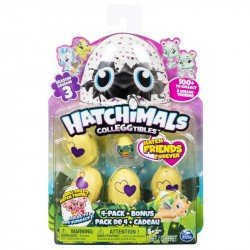 HATCHIMALS EGG  COLECCIONABLES 5 FIGURAS T3