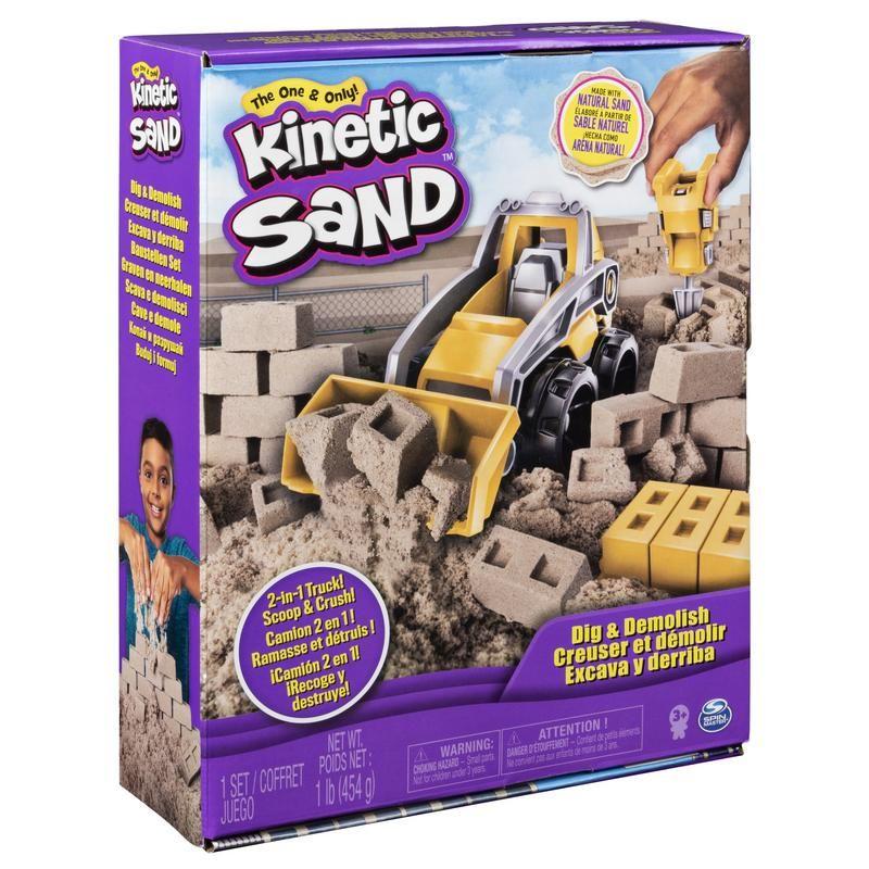Kinetic Sand Set Excava y Derriba Spin Master