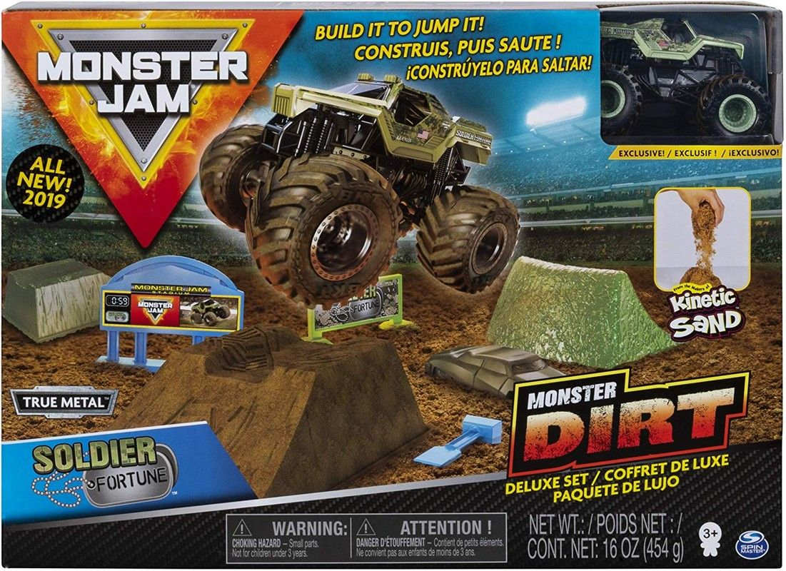 Monster Jam Set de Juego Monster Dirt De Lujo Spin Master
