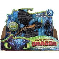 Figuras Dragón y Vikingo Como Entrenar A Tu Dragon Hipo y Chimuelo
