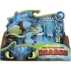 Figuras Dragón y Vikingo Como Entrenar A Tu Dragon Astrid y Tormenta