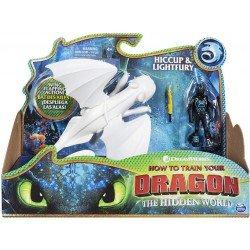 Figuras Dragón y Vikingo Como Entrenar A Tu Dragon Hipo y Furia Luminosa
