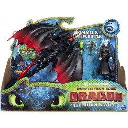 Figuras Dragón y Vikingo Como Entrenar A Tu Dragon Grimmel y Garra Mortal