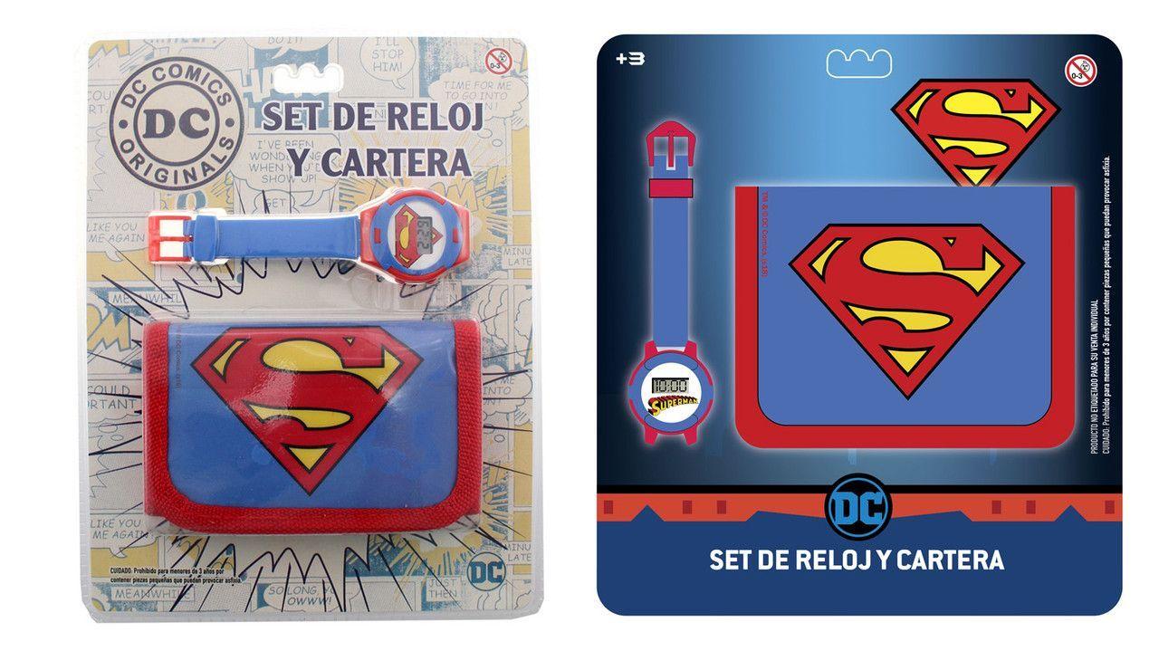 Set Reloj Y Cartera Superman