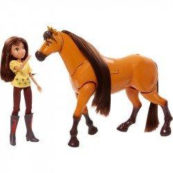Muñeca Spirit Cabalgando con Lucky Bandai