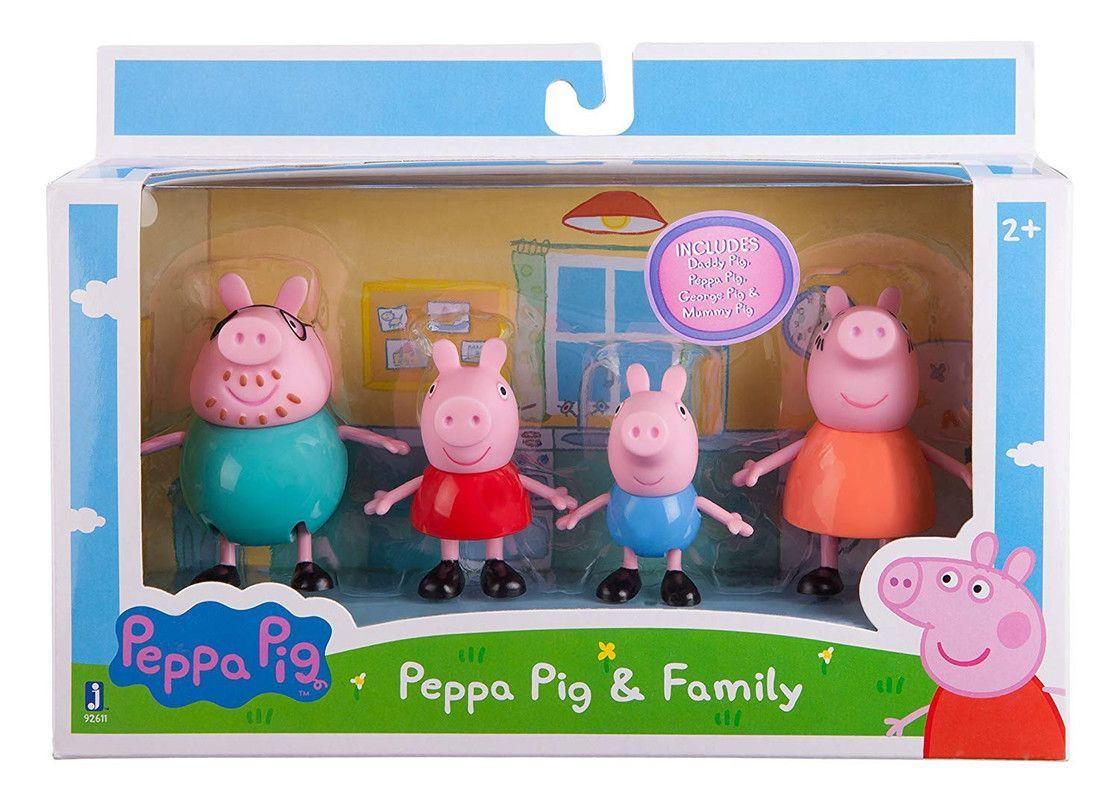 Peppa 4 Pack Figuras Bandai