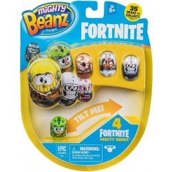 Mighty Beanz Fortnite S1 4 Pack Bandai