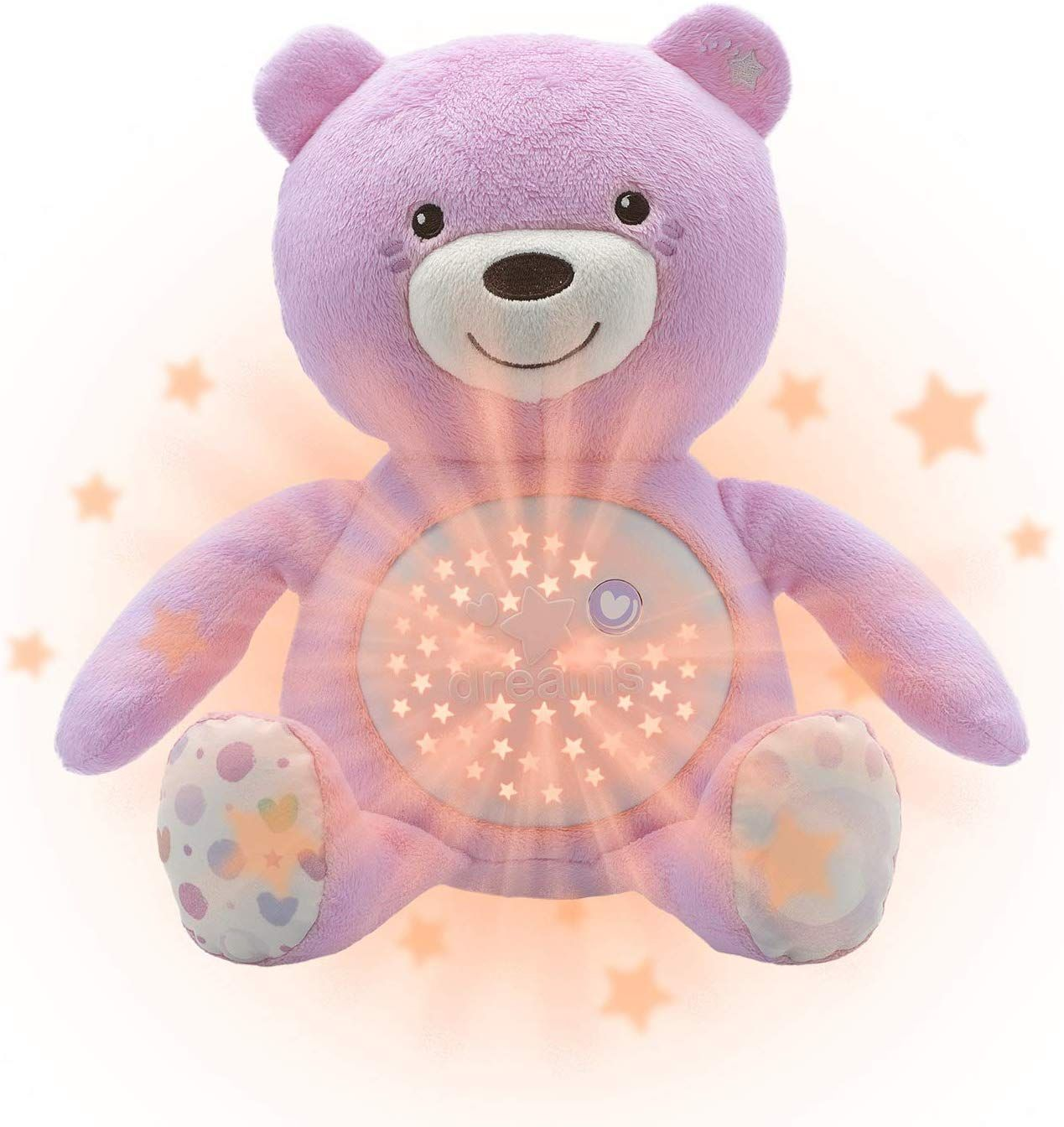 Peluche Proyector First Dreams: Baby Bear Rosa Chicco