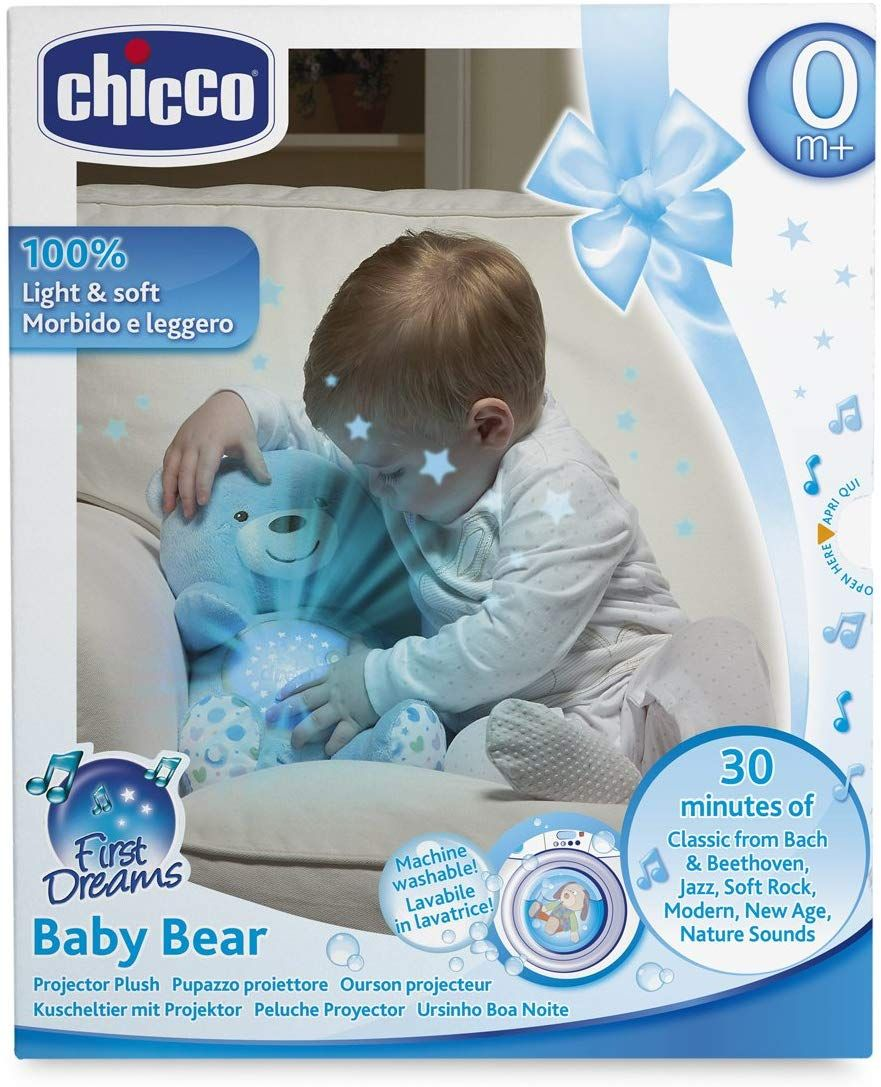 CHICCO TOY FD BABY BEAR BLU