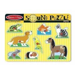 Rompecabezas con Sonido: Mascotas Melissa & Doug