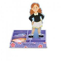 Muñeca Magnética De Madera Para Vestir - Maggie