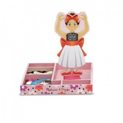 NINA BALLERINA MAGNETIC WOODEN DRESS UP DOLL