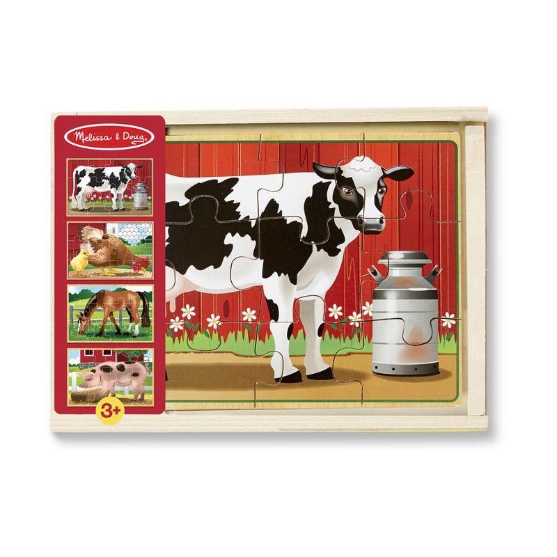 FARM ANIMALS PUZZLES IN A BOX