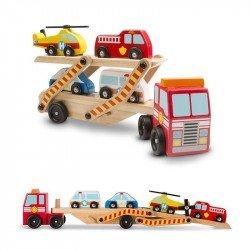 Camion De Carga De Vehiculos De Emergencia Melissa & Doug