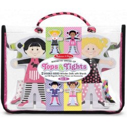 TOPS AND TIGHTS MAGNETIC WOODEN DRESS UP DOLLS