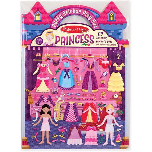 Set de Stickers Esponjosos: Princesas Melissa & Doug
