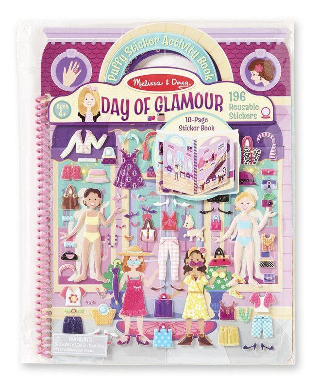 Melissa & Doug 19412 Libro de Actividades con Stickers: Dia de Glamour