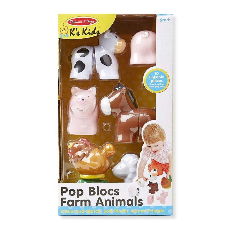Melissa & Doug 9196 Pop Blocs Animales de Granja