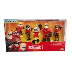 INCREIBLES 2 3 PRECOOL FIGURES FAMILY PACK