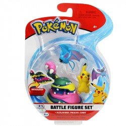 Figuras De Acción Pokemon 3 Pack Alolan Muk, Pikachu, Zumbat