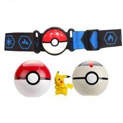 Figura De Acción Pokemon Clip N Go Pokeball  Pikachu