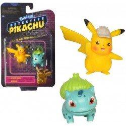 "Figura Pokemon: Detective Pikachu 3"" Pikachu y Bulbasur"