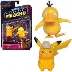 "Figura Pokemon: Detective Pikachu 3"" Pikachu y Psyduck"