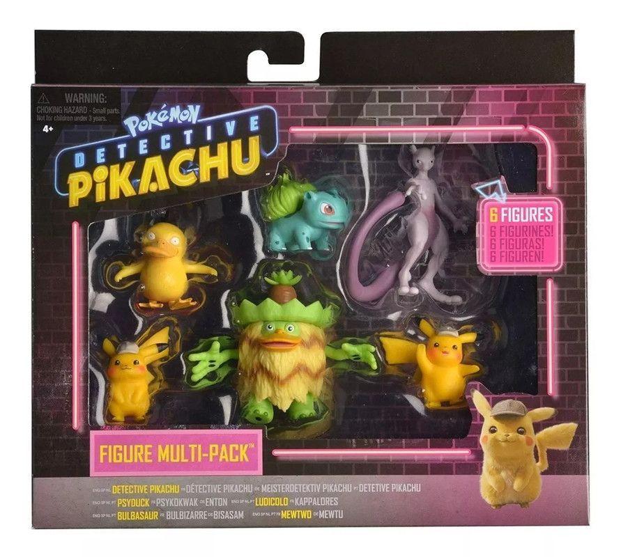 Figuras Detective Pikachu: La Pelicula 6 Pack