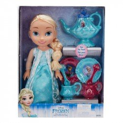 Muñeca Disney Princess con Set de Té Elsa