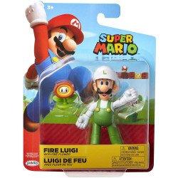 "Figura Nintendo 4"" Super Mario: Fire Luigi"
