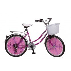 BICICLETA BIMEX CITY BIKE LADY 18 VEL ROD 24 DAMA