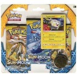 Juego de Cartas Pokemon Sun and Moon 3 Pack