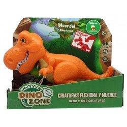 Dino Zone Criaturas Flexiona y Muerde Juguetron Rugops Naranja