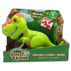 Dino Zone Criaturas Flexiona y Muerde Juguetron Rugops Verde