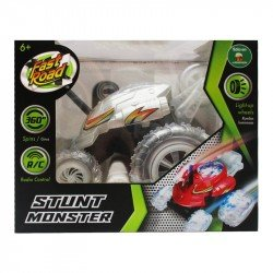Vehiculo a Control Remoto Stunt Monster Juguetron Gris