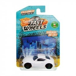 Fast Wheels Coche Basico Carro Blanco