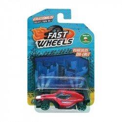 Fast Wheels Coche Basico Rojo Con Negro