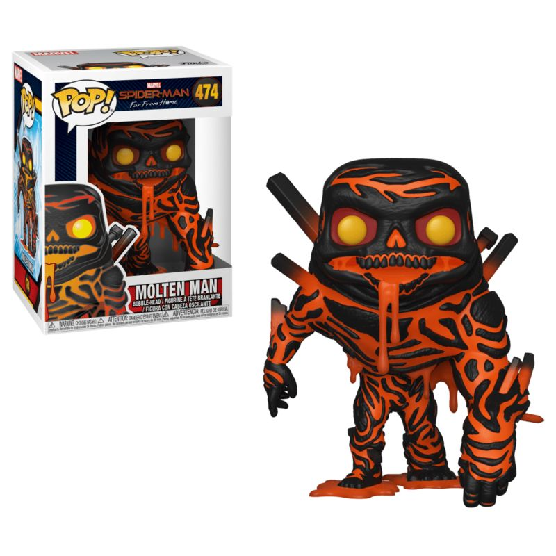 FUNKO  POP  SPIDERMAN   MOLTEN MAN