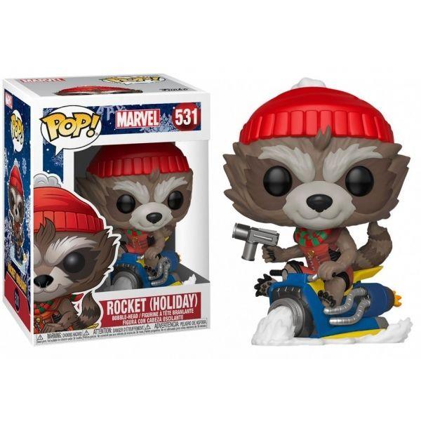 Funko POP! Marvel: Holiday  Rocket 43334