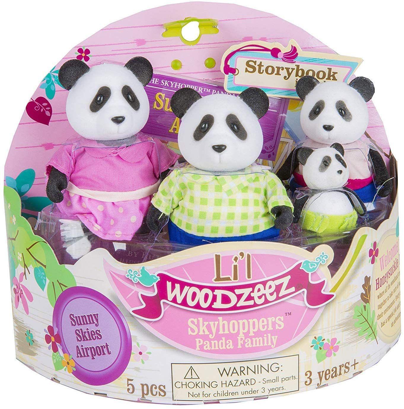 Li'l Woodzeez Familia de Pandas