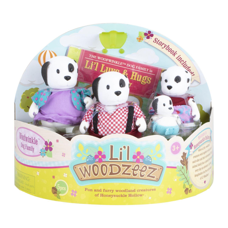 Li'l Woodzeez Set Familia de Perros