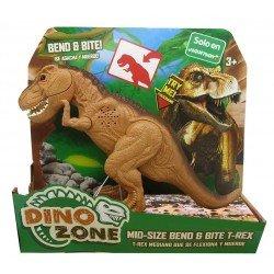 Dino Zone T-Rex Flexiona y Muerde Juguetron Cafe