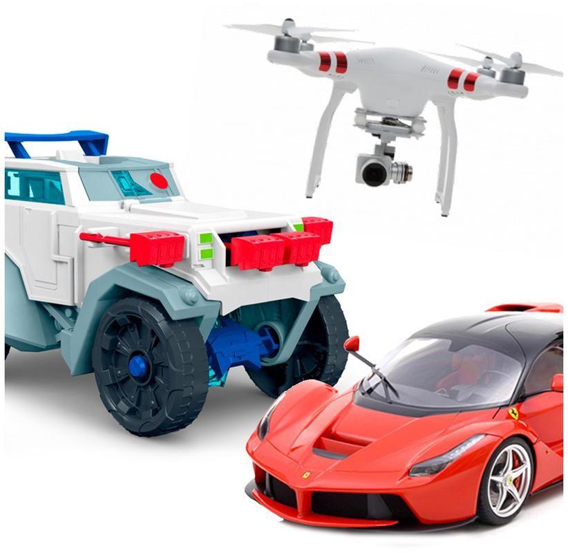 Vehículos, Pistas y Drones